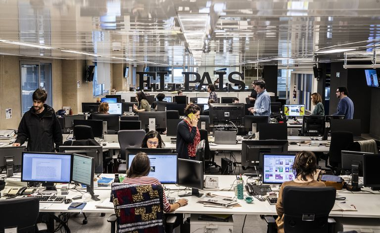 The EL PAÍS newsroom in Madrid.