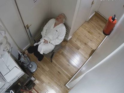 Julian Assange was secretly recorded while living at the Ecuadorean embassy in London.