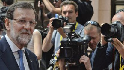 Prime Minister Mariano Rajoy in Brussels on Wednesday.