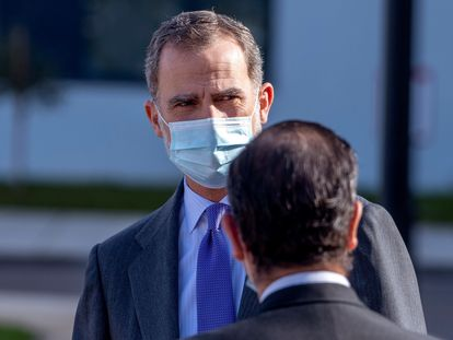 King Felipe VI during an official event in Toledo this month.