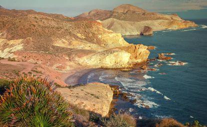 Coves of Carbón and Chicre, in Cabo de Gata Natural Park (Almería).