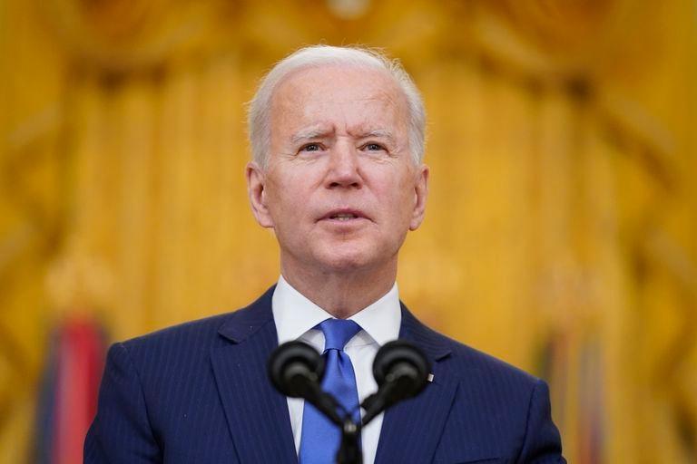 Joe Biden during his speech on International Women's day on March 8.