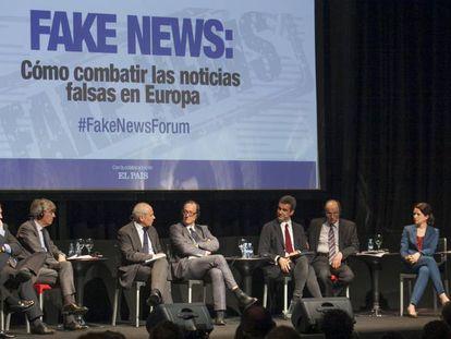 LENA debate on fake news in Madrid.