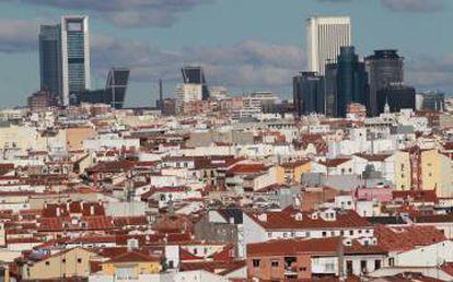 Panoramic view of Madrid.