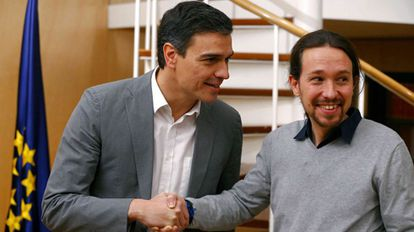 Pedro Sánchez meets with Pablo Iglesias on Friday.