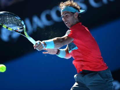 Nadal during the match against Dimitrov.