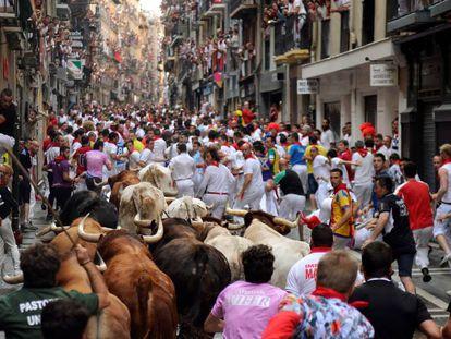 Running of the bulls in 2016.