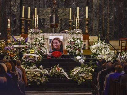 The funeral of María Villar in Spain on September 26.