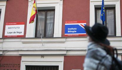 Bilingual school Lope de Vega in Madrid.