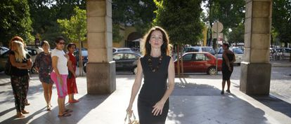 Judge Mercedes Alaya arriving in court this morning in Seville.