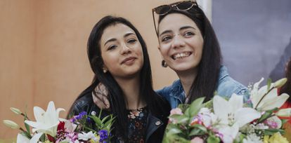 María Jimena Rico and her partner, Shaza Ismail, pictured back in Spain.