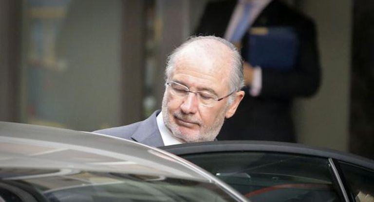 Rodrigo Rato after his hearing at the High Court on October 16.
