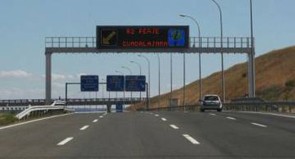 One of the radial roads outside Madrid.