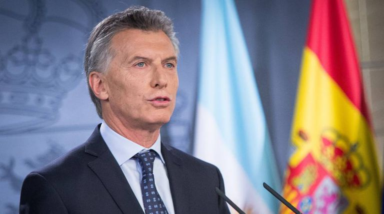 Argentina's President Mauricio Macri in Madrid on Thursday.