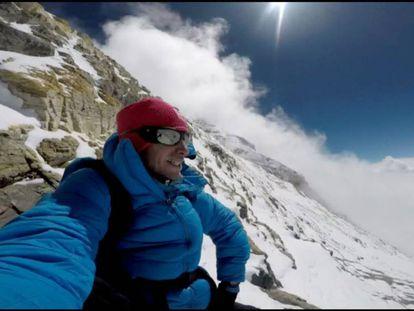 Kilian Jornet on Everest.
