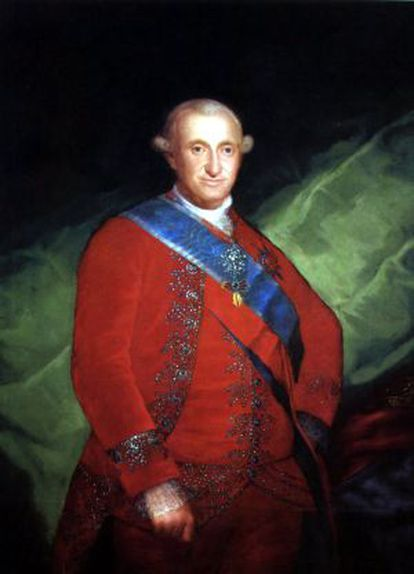 A portrait of King Charles IV by Goya.
