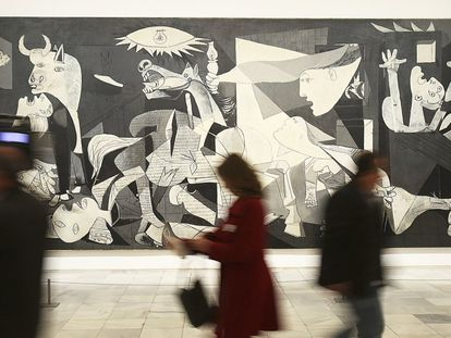 Pablo Picasso's Guernica measures 3.5 by 7.8 meters, and was the artist's very personal response to the bombing in April 1937 of Guernica, a small, undefended and strategically unimportant town in Spain's Basque Country. The painting was commissioned by the government of Spain's Second Republic – then engaged in a bitter Civil War against the forces of General Francisco Franco – with officials wanting the artist to produce something to adorn the Spanish Pavilion at the International Exposition in Paris.