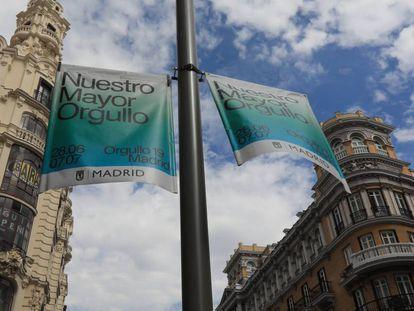 Gay Pride street banners.