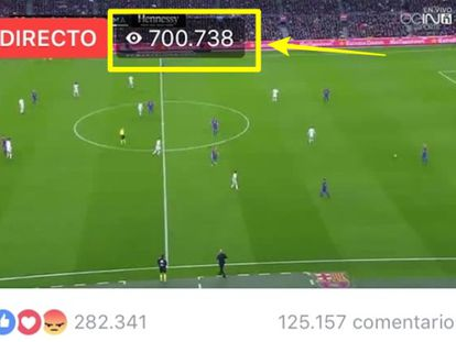 A pirated stream of the December Barcelona–Real Madrid game attracted more than 700.000 viewers.