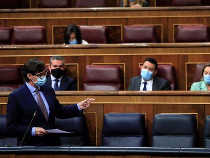 Spain's Health Minister Salvador Illa in Congress.