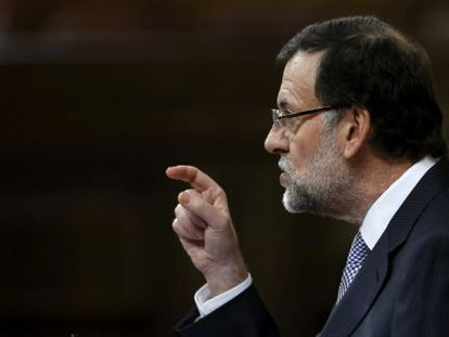 Prime Minister Mariano Rajoy speaking in Congress on Wednesday.
