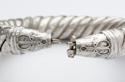 Silver bracelet from the Amarguilla treasure.