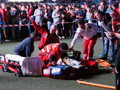 An acrobat fell to his death at Mad Cool in Madrid.