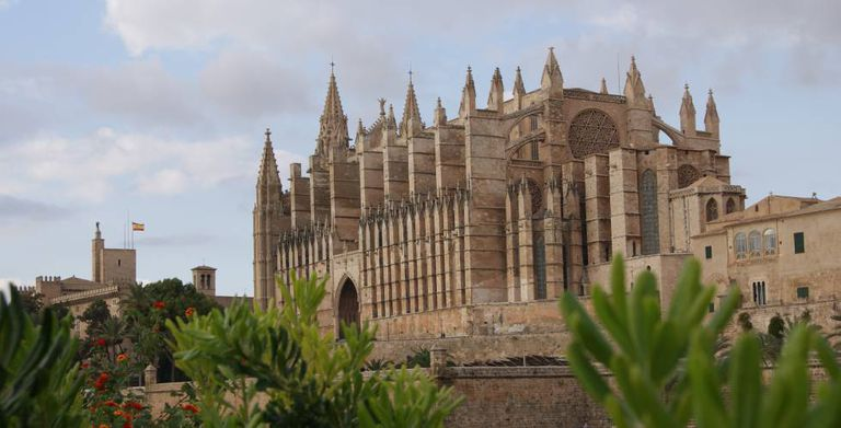 The cathedral in Palma de Mallorca.