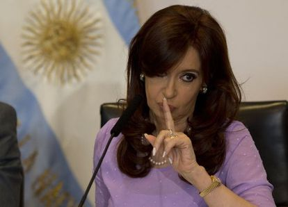 Argentinean President Cristina Fernández de Kirchner during a public appearance on February 11.