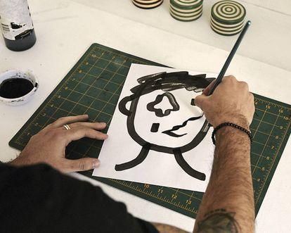 Pablo Delcán drawing