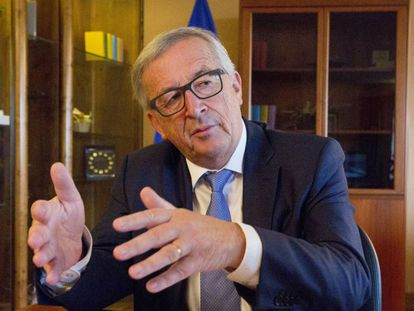 Jean-Claude Juncker, during the interview in his office in Strasbourg.