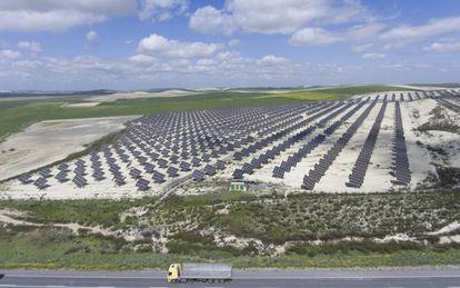 Solar panel plant in El Cuervo in Seville.