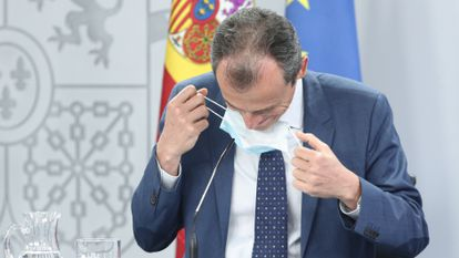 Spain's Science Minister Pedro Duque at the Tuesday press conference.