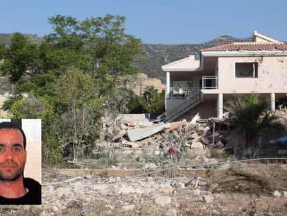 The remains of the house in Alcanar where Abdelbaki Es Satty's body was found.
