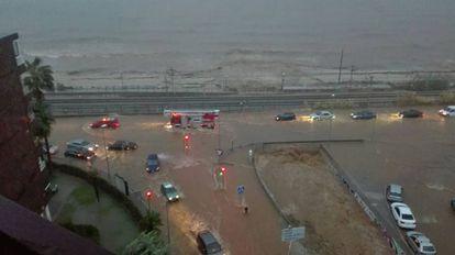The N-II road in Vilassar de Mar on Wednesday.