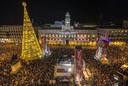 New Yer's Eve celebration in Puerta del Sol in 2015.