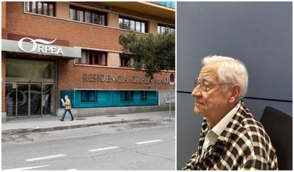 An Orpea-run residence in Madrid, and Rafael García in a photo sent in by his family.