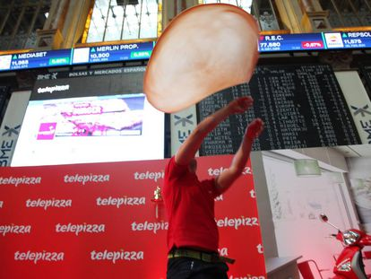 Telepizza puts on a show for investors at its launch on Wednesday.