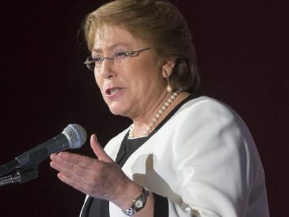 Michelle Bachelet during a speech in Washington.