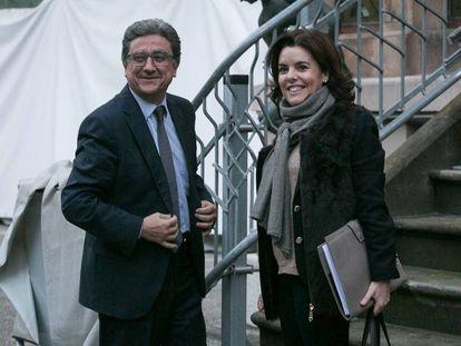 Spanish Vice President Soraya Sáenz de Santamaría in Barcelona.