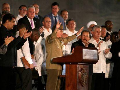 Raúl Castro during his address on Tuesday.
