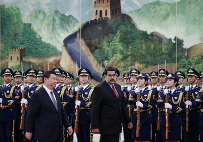 Nicolás Maduro with Chinese President Xi Jinping in Beijing.