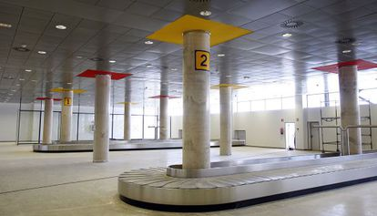 The baggage hall at Castellón airport, which has yet to receive any flights since it was inaugurated in 2011.