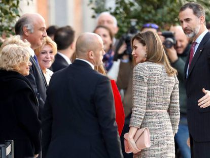 King Felipe VI at Madrid's Thyssen-Bornemisza Museum on Friday.