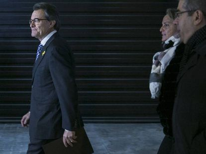 Ex-premier Artur Mas, this Tuesday, before announcing he would step down as leader of PDeCAT.