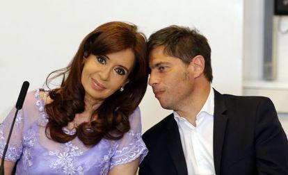 President Cristina Fernández de Kirchner with her Economy Minister Axel Kicillof.
