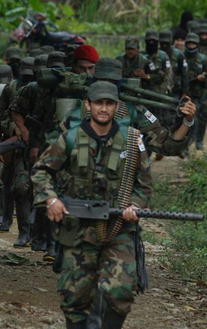 FARC members in Colombia.