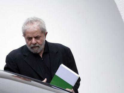 Former Brazil president Lula da Silva this Wednesday in Brasilia.