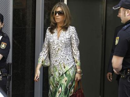 Rosalía Iglesias leaves the High Court on June 27 last year.