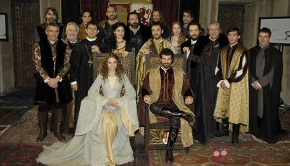The cast of TV series Isabel.